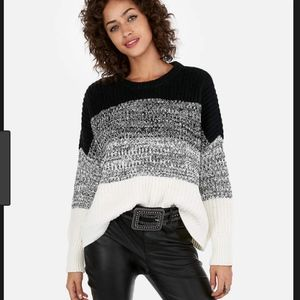 NWT Express Boxy Ombre Pullover Sweater